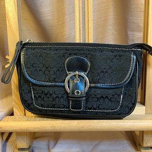 Coach vintage wallet/pouch leather/canvas